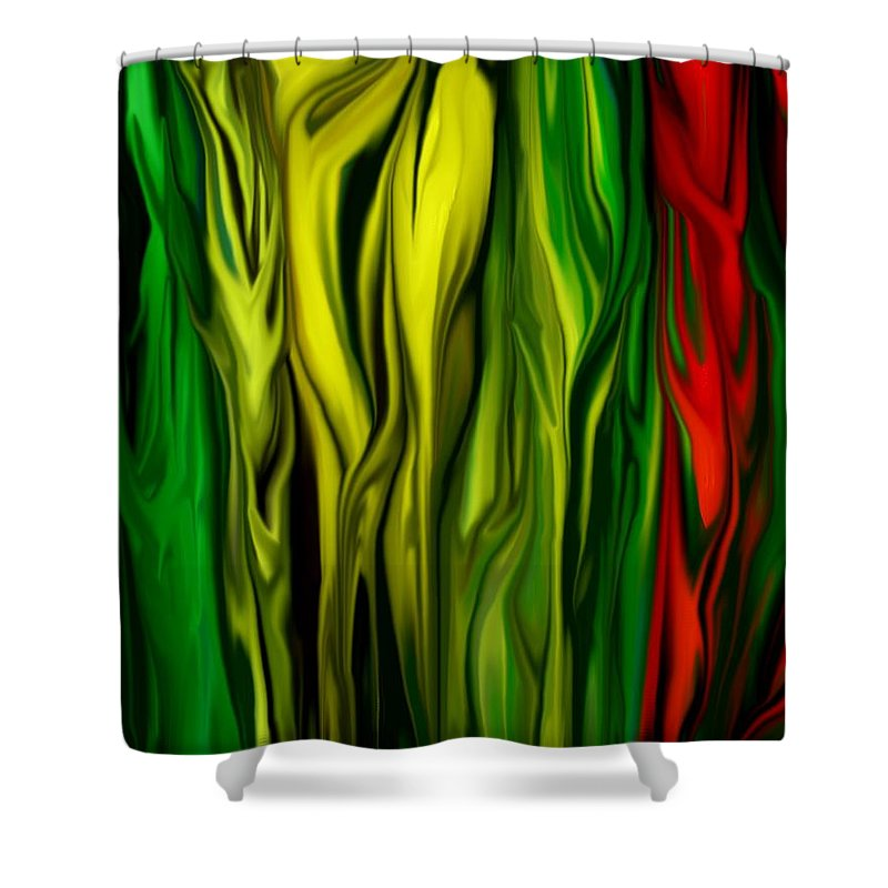 Digital Painting Shower Curtain featuring the digital art Untitled 01-31-10 by David Lane