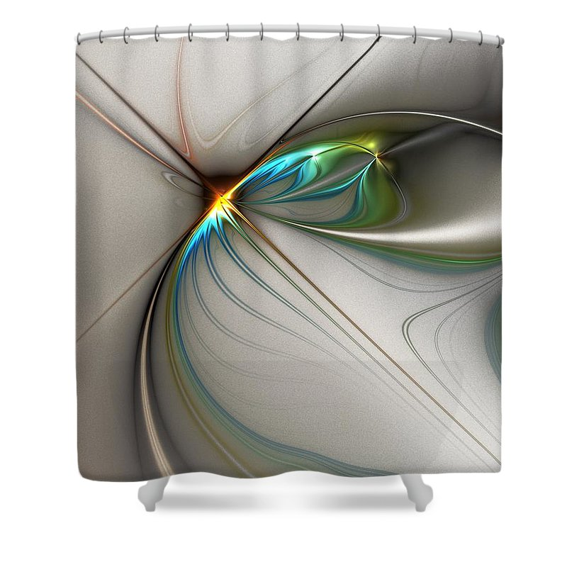 Digital Painting Shower Curtain featuring the digital art Untitled 02-16-10-a by David Lane