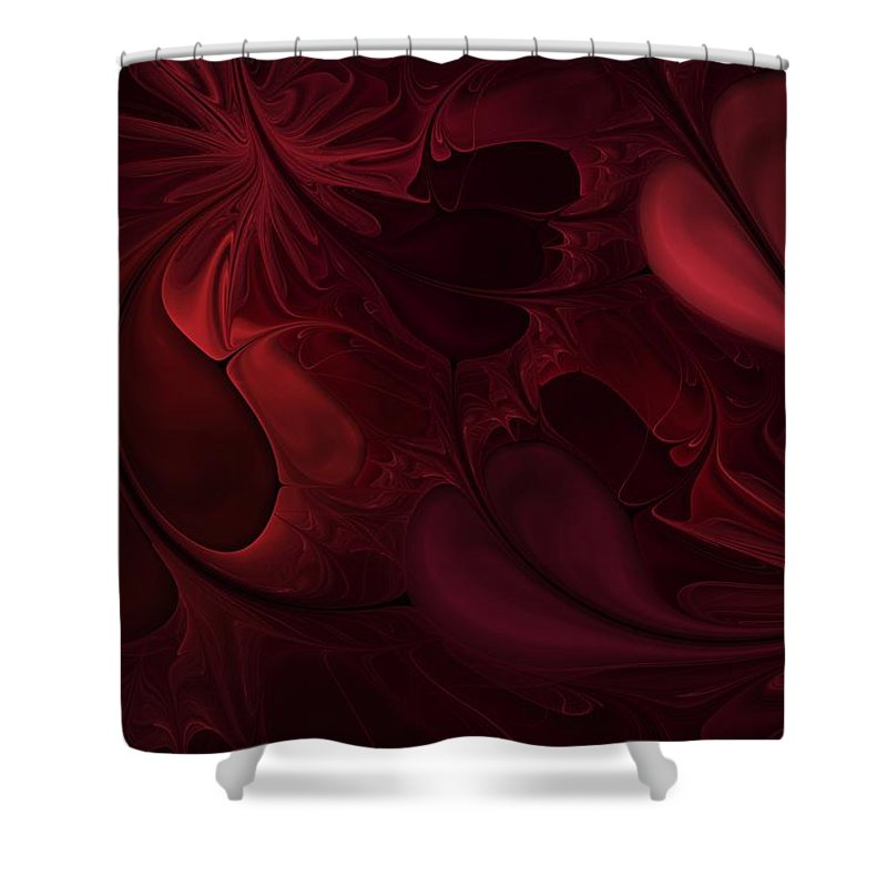 Digital Painting Shower Curtain featuring the digital art Untitled 1-26-10 Reds by David Lane