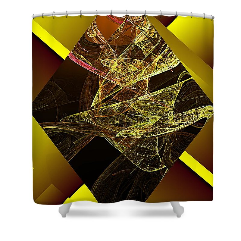 Abstract Digital Painting Shower Curtain featuring the digital art Untitled 11-06-09 by David Lane