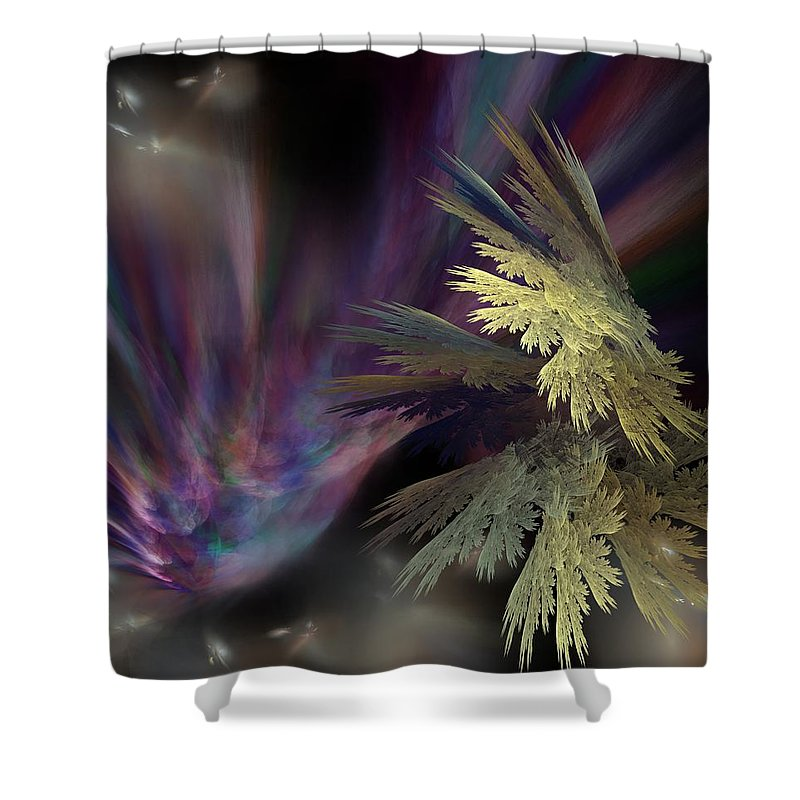 Fantasy Shower Curtain featuring the digital art Untitled 12-05-09 by David Lane