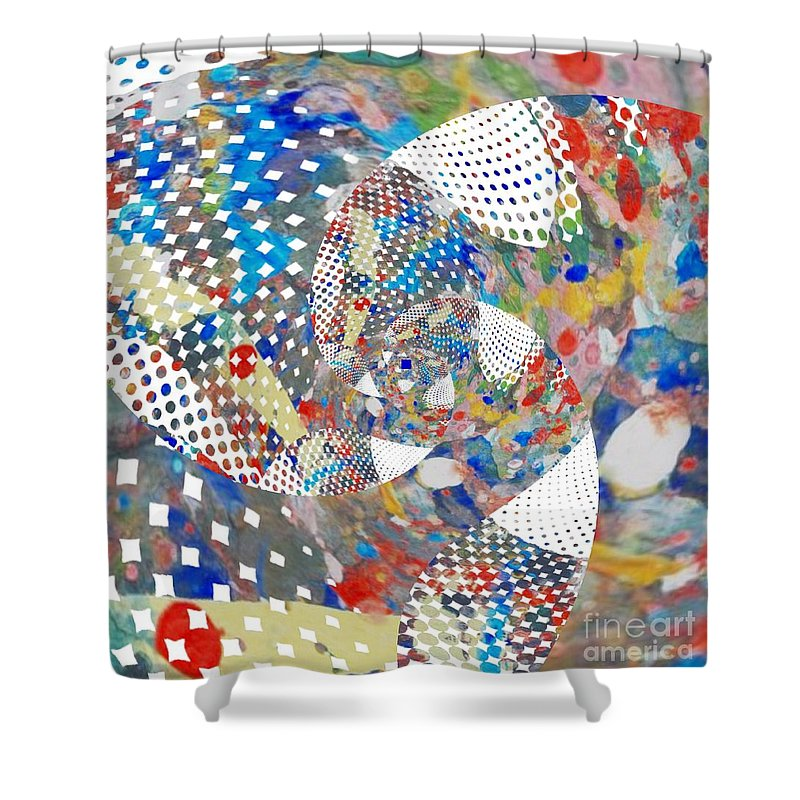 Photo Art Shower Curtain featuring the digital art Untitled #2 by David Boudreau