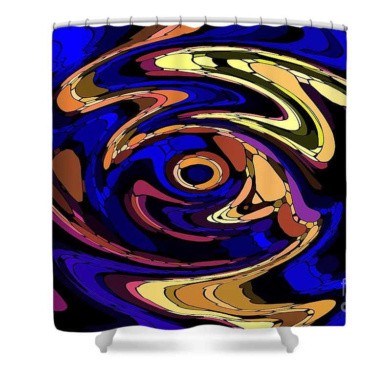 Abstract Shower Curtain featuring the digital art Untitled 7-04-09 by David Lane