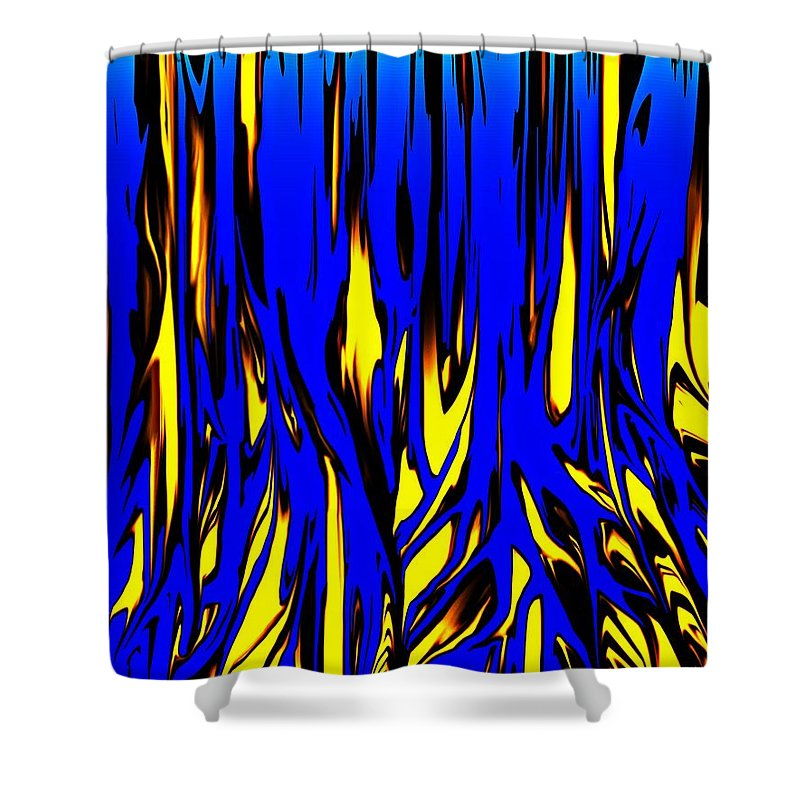 Abstract Shower Curtain featuring the digital art Untitled 7-21-09 by David Lane