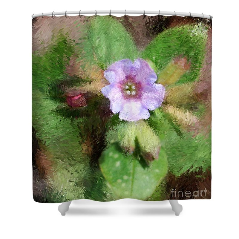 Digital Photo Shower Curtain featuring the photograph Untitled Floral -1 by David Lane