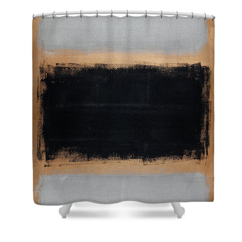 Blue Shower Curtain featuring the painting Untitled No. 15 by Julie Niemela