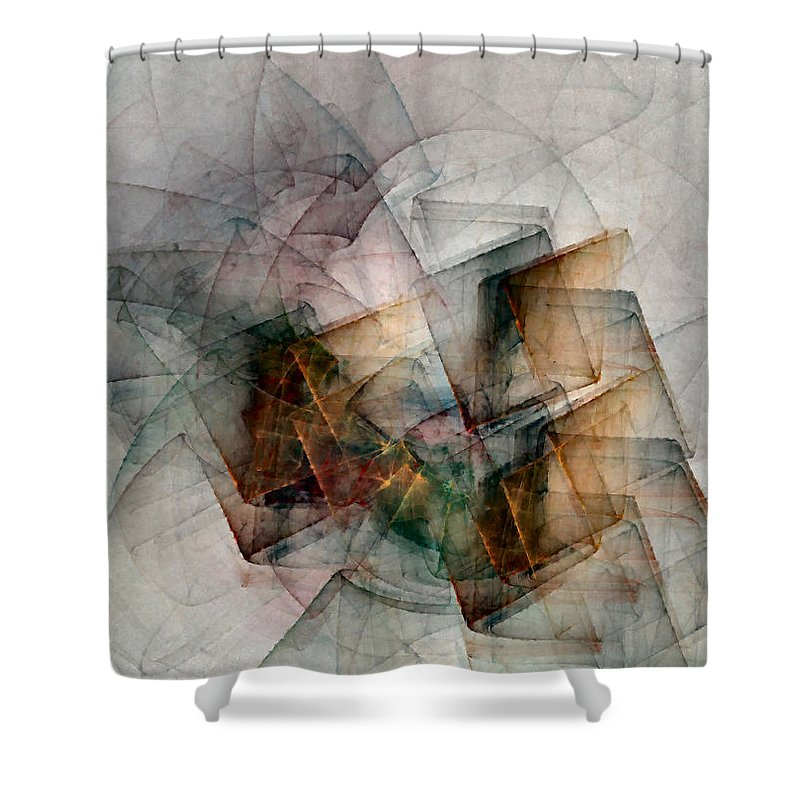 Study Shower Curtain featuring the digital art Untitled Study No. 705 by NirvanaBlues