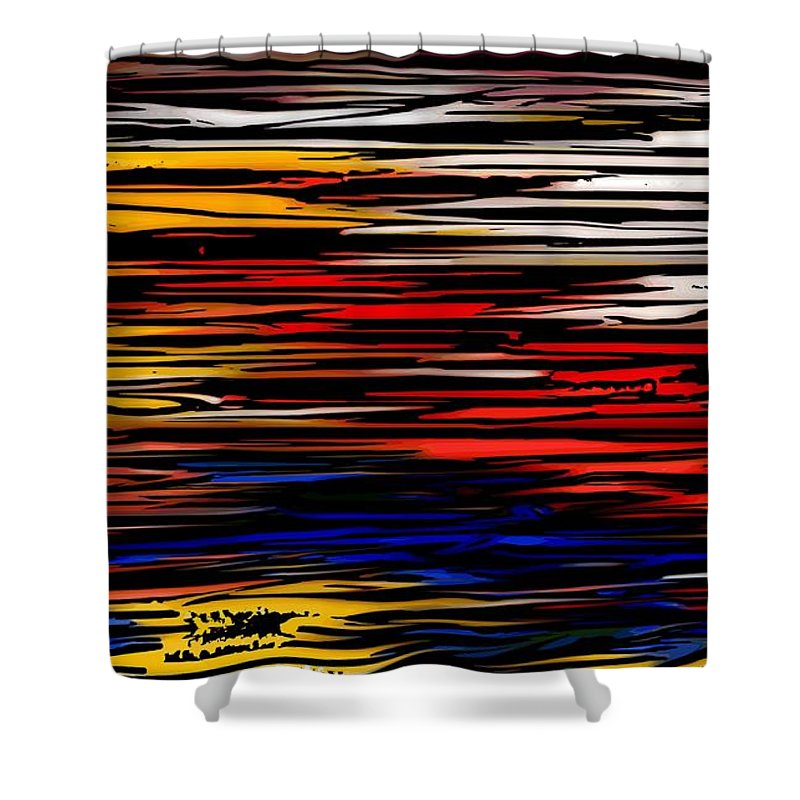 Abstract Digital Painting Shower Curtain featuring the digital art Untitled2 9-12-09 by David Lane
