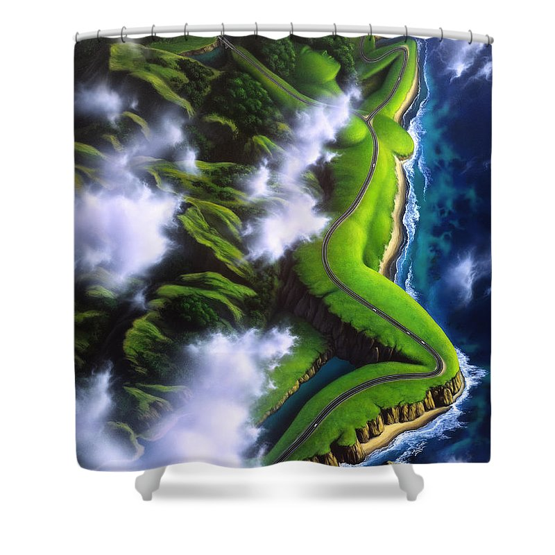 Ocean Scape Paintings Shower Curtains