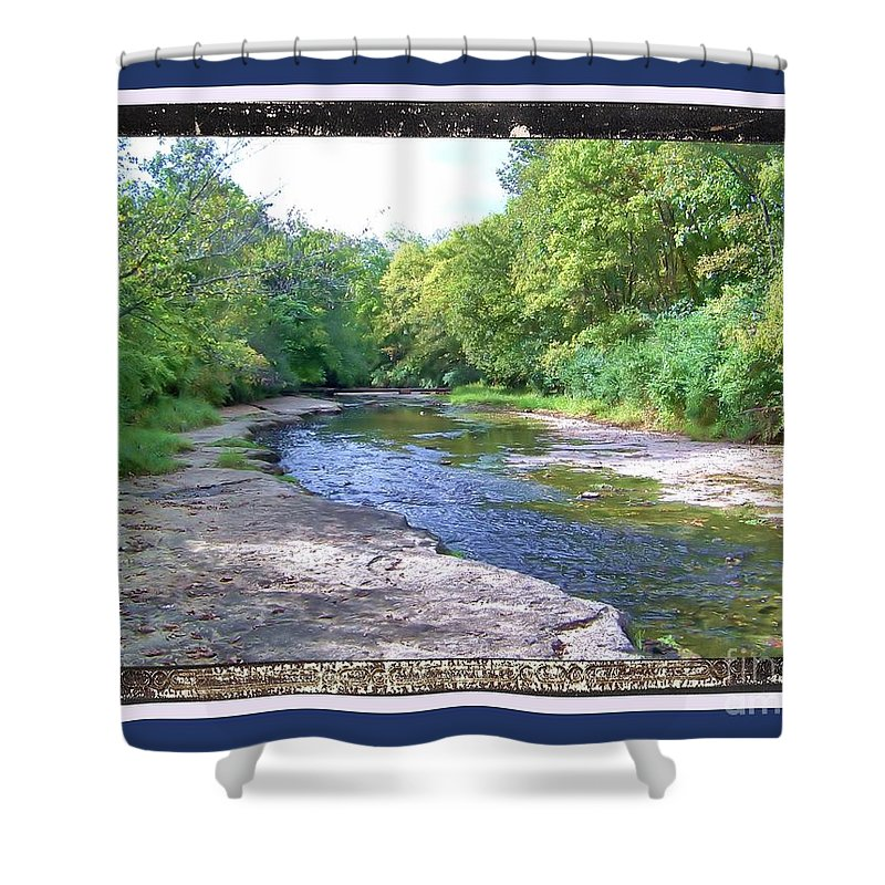 Shower Curtain featuring the photograph Up A Creek by Shirley Moravec