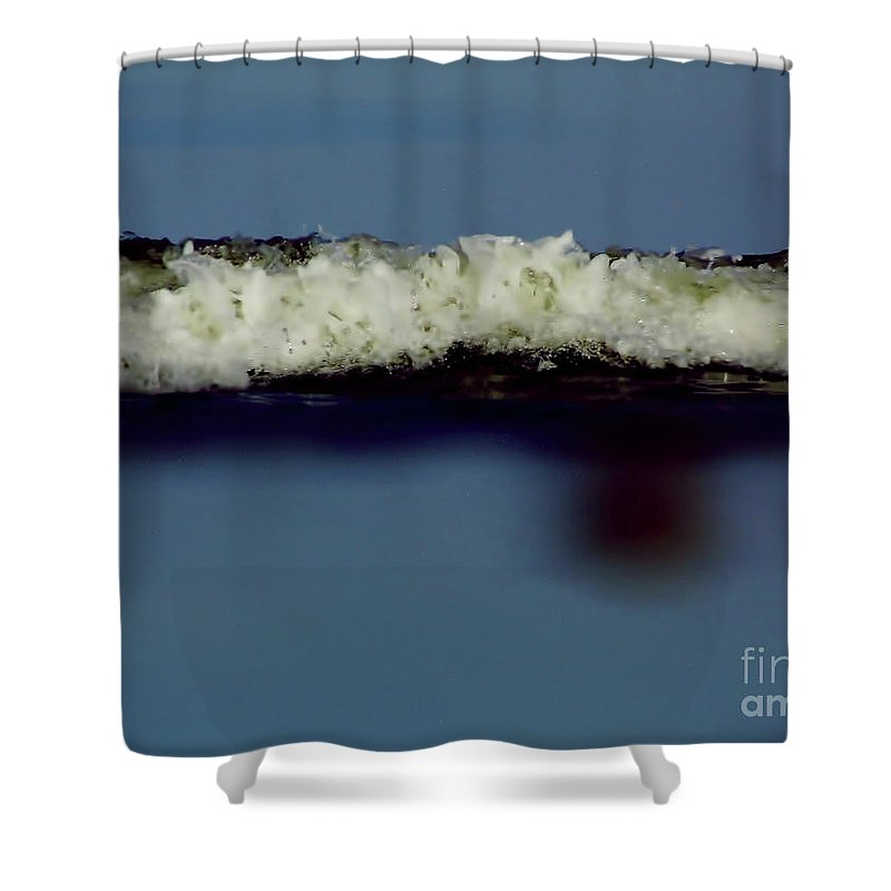 Macro Shower Curtain featuring the photograph Up Close To The Ocean by D Hackett