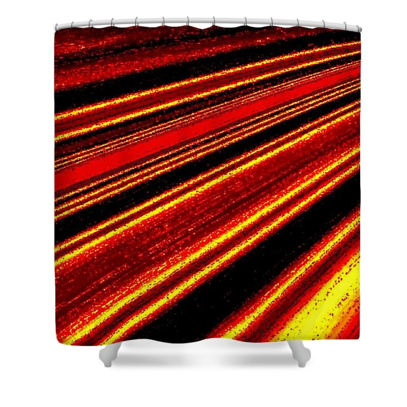 Abstract Shower Curtain featuring the digital art Upbeat by Will Borden