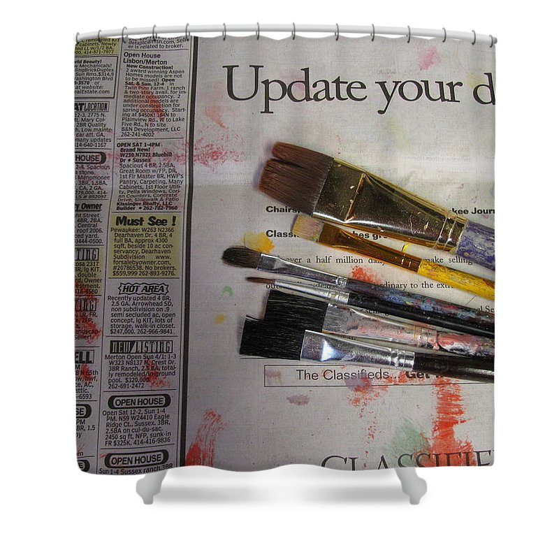Brushes Shower Curtain featuring the photograph Update Your Decor by Anita Burgermeister
