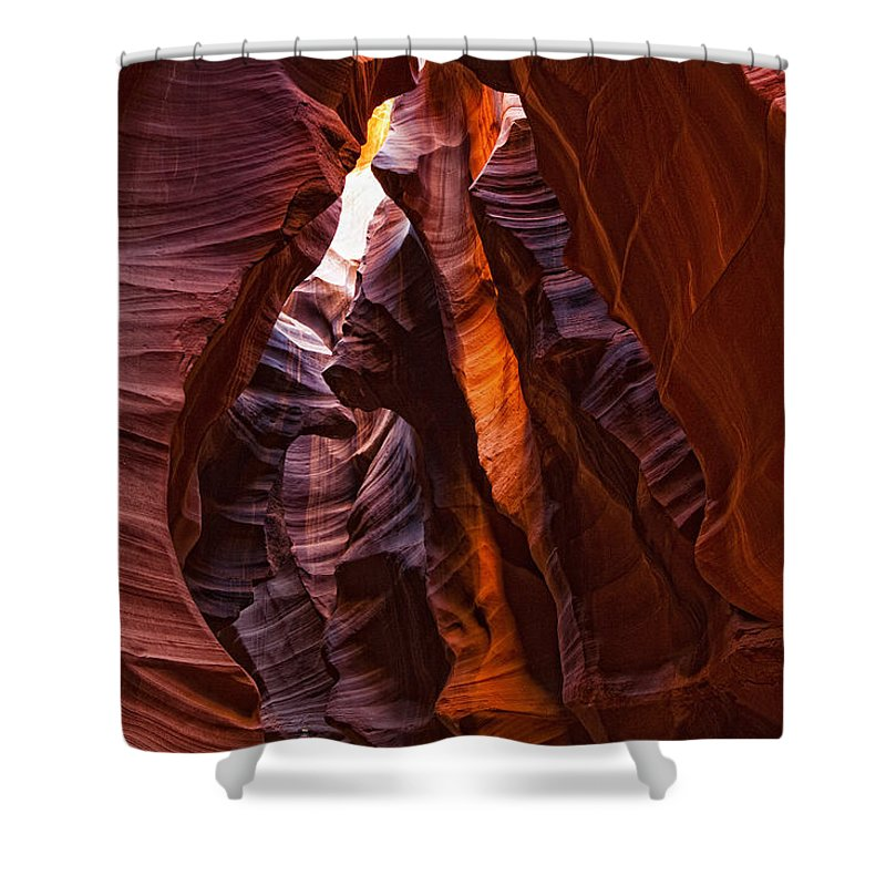 Light Shower Curtain featuring the photograph Upper Antelope Canyon, Arizona by Robert Postma