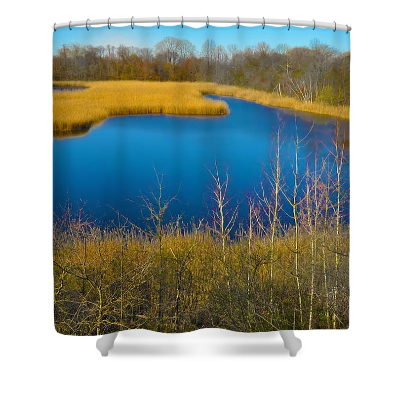 Philadelphia Shower Curtain featuring the photograph Upper Roxborough Reservoir by Bill Cannon