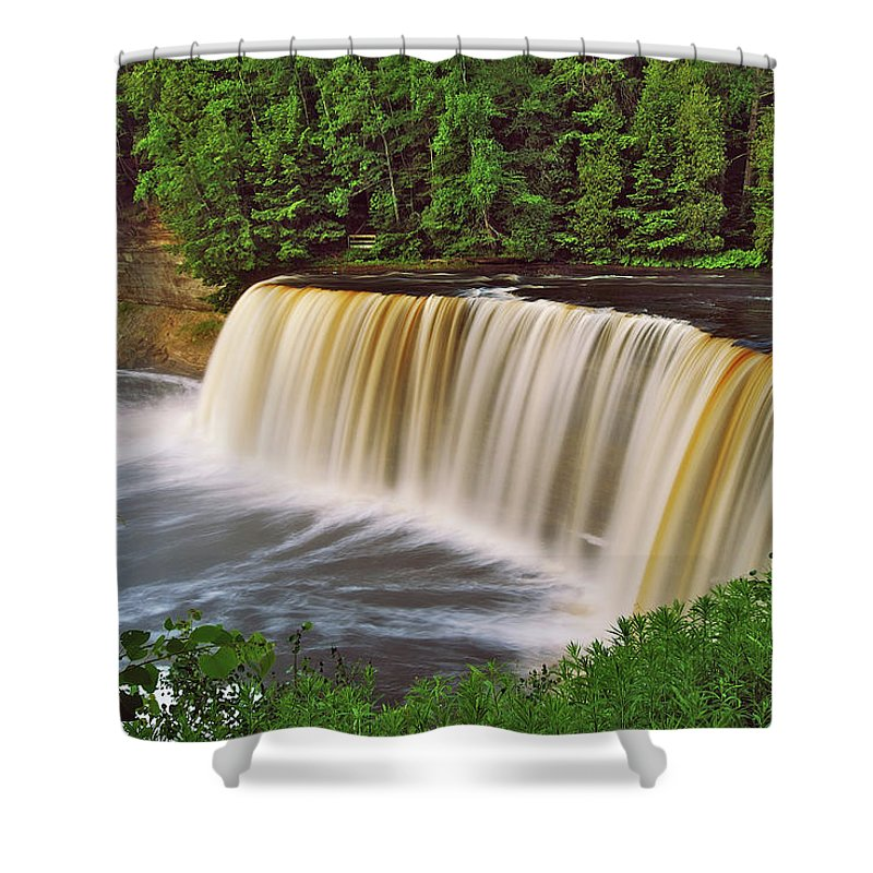 Tahquamenon Shower Curtain featuring the photograph Upper Tahquamenon 6229 by Michael Peychich