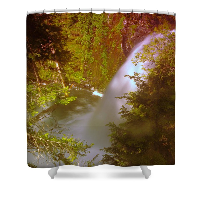 Waterfalls Shower Curtain featuring the photograph Upper Union Creek Falls by Jeff Swan