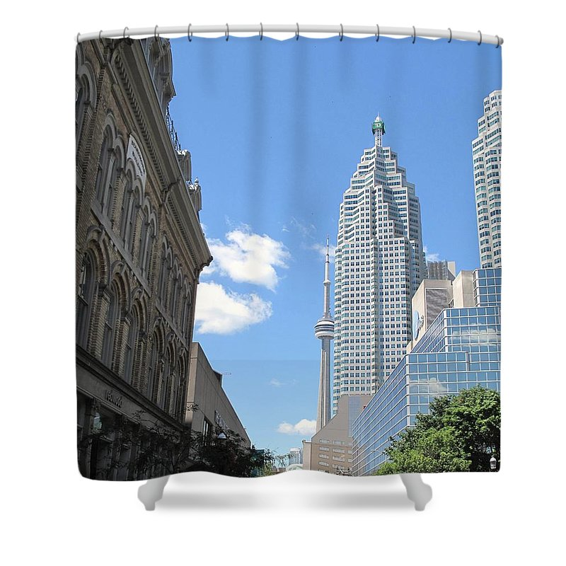 Front Street Shower Curtain featuring the photograph Urban Canyon by Ian MacDonald