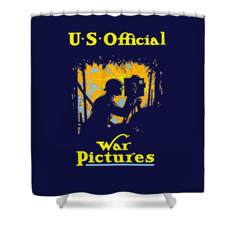 Ww1 Shower Curtain featuring the painting U.s. Official War Pictures by War Is Hell Store