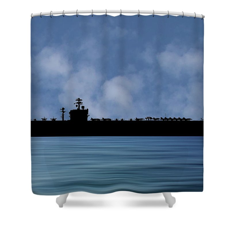 Uss Carl Vinson Shower Curtains