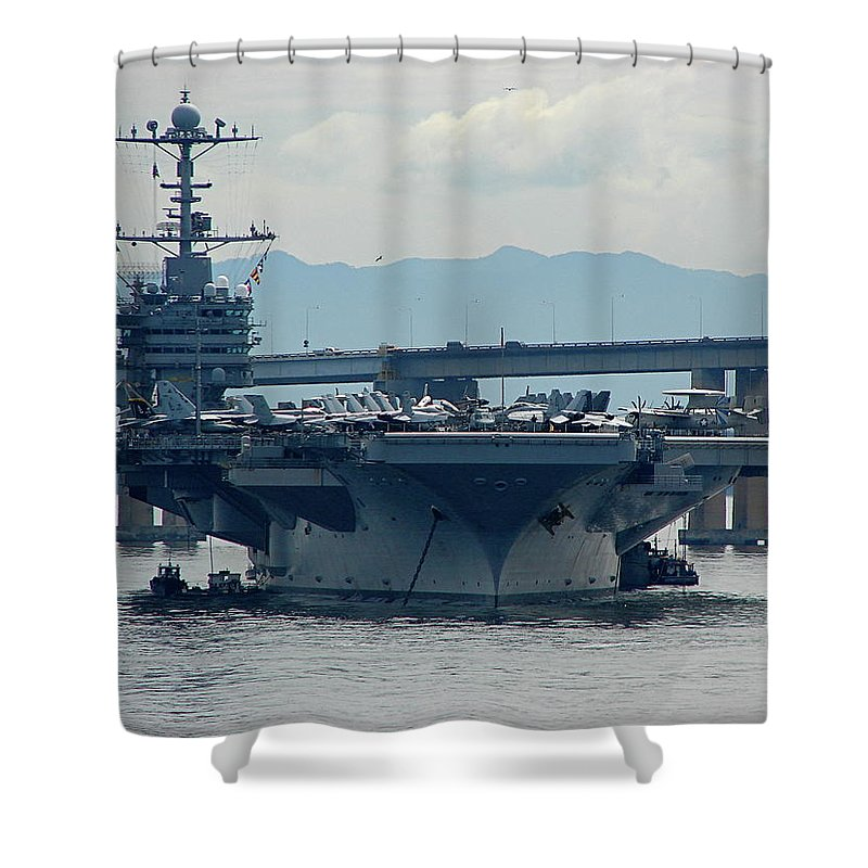 Uss George Washington Shower Curtain featuring the photograph Uss George Washington by Brett Winn