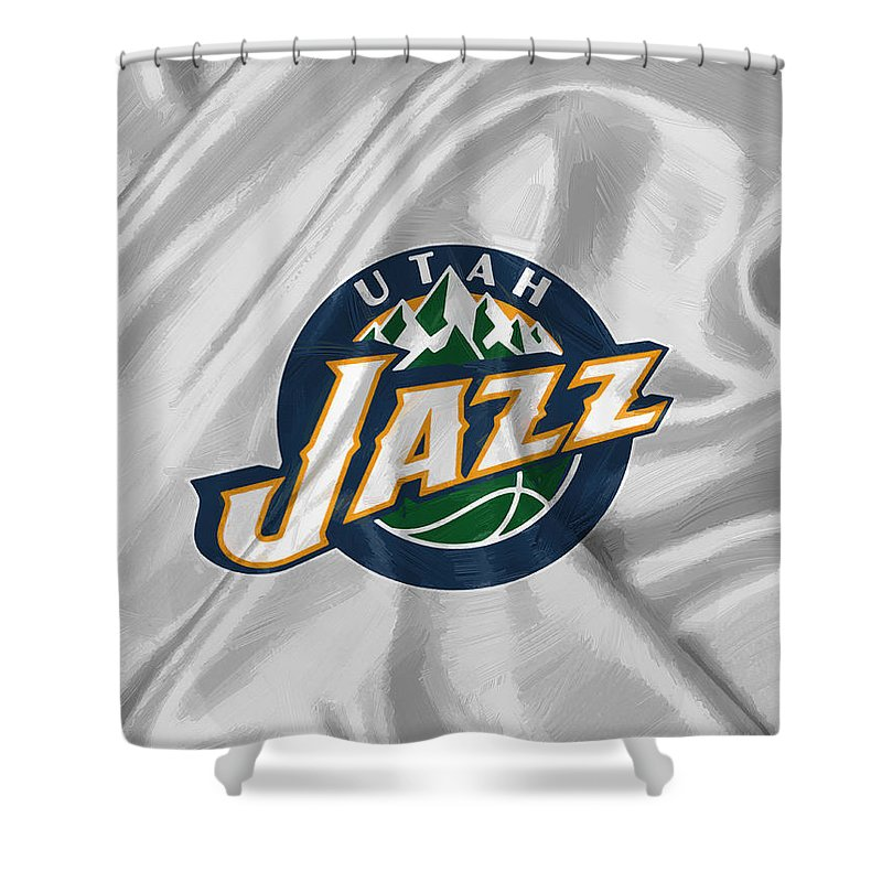 Utah Jazz Shower Curtain for Sale by Afterdarkness