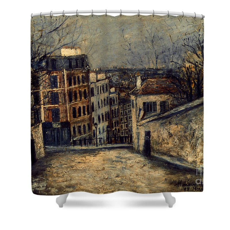 20th Century Shower Curtain featuring the photograph Utrillo: Mont-cenis by Granger