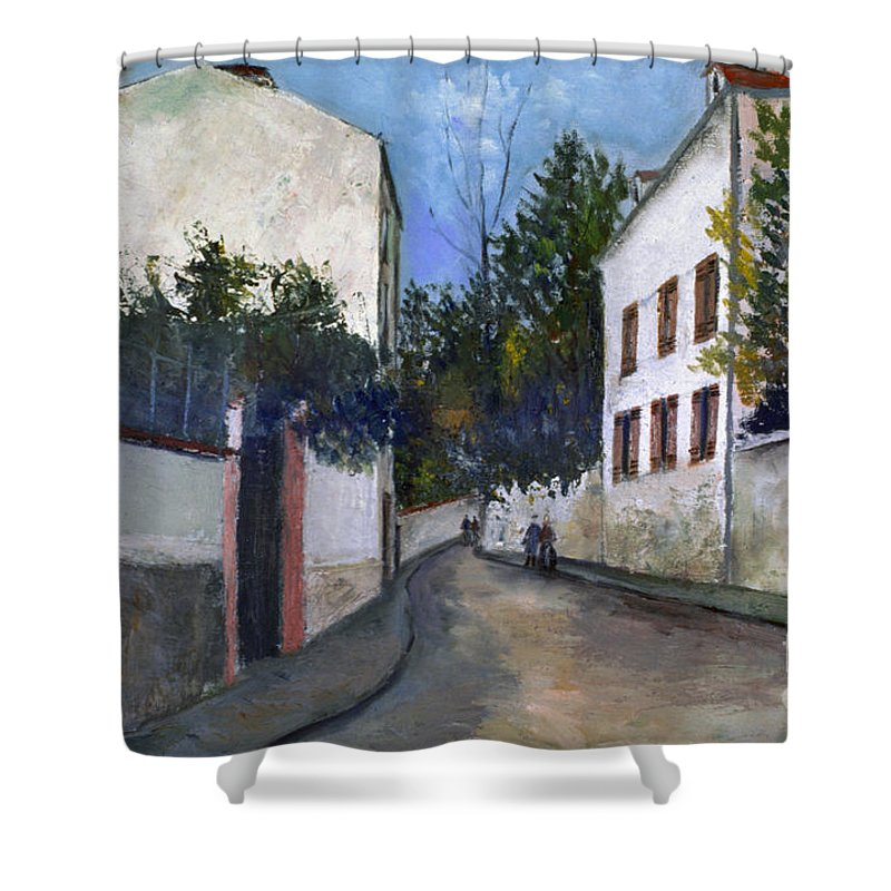 1912 Shower Curtain featuring the photograph Utrillo: Sannois, 1912 by Granger