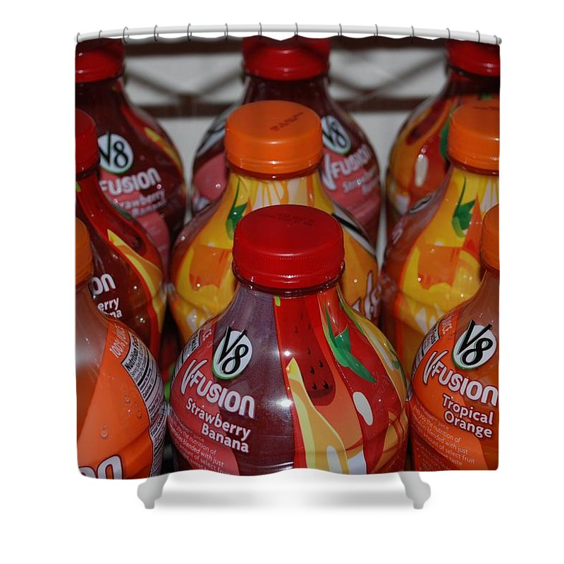 V8 Shower Curtain featuring the photograph V8 Fusion by Rob Hans
