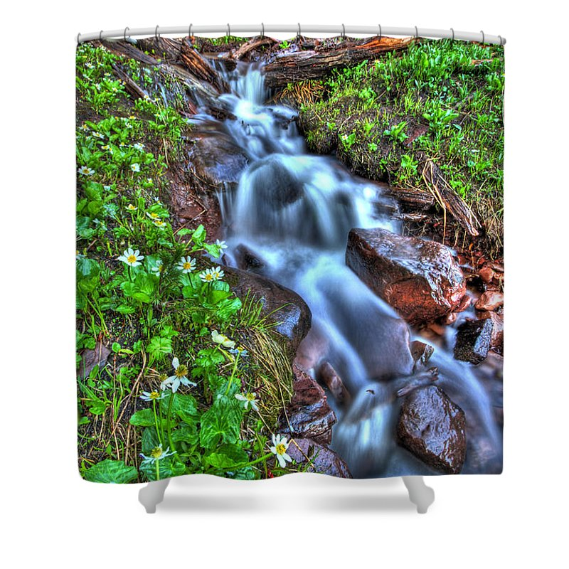 Vail Shower Curtain featuring the photograph Vail Cascade by Scott Mahon