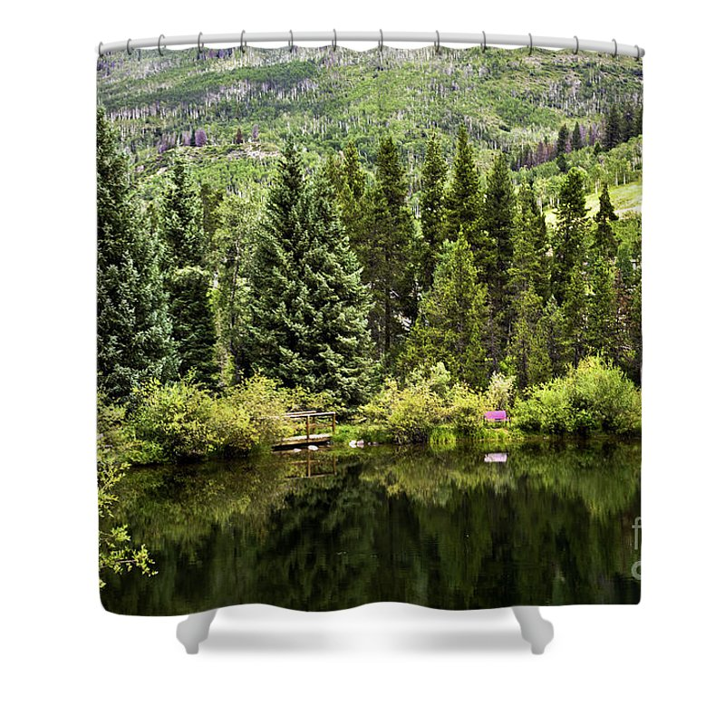Vail Shower Curtain featuring the photograph Vail Reflections In The Summer by Madeline Ellis