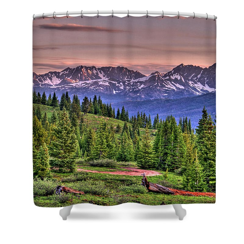 Colorado Shower Curtain featuring the photograph Vail View by Scott Mahon