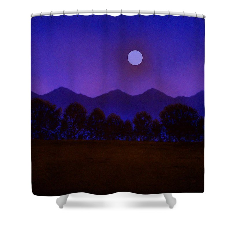 Night Shower Curtain featuring the painting Valley Light by Frank Wilson