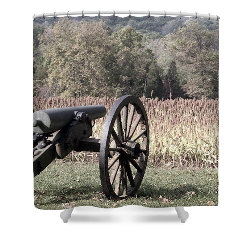Gettysburg Shower Curtain featuring the photograph Valley Of Death by Richard Rizzo