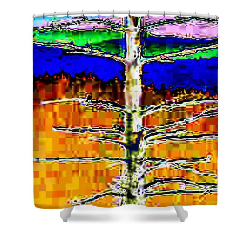 Valley Shower Curtain featuring the photograph Valley View 1 by Tim Allen