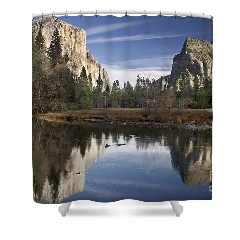 Landscape Shower Curtain featuring the photograph Valley View Reflection by Richard Verkuyl
