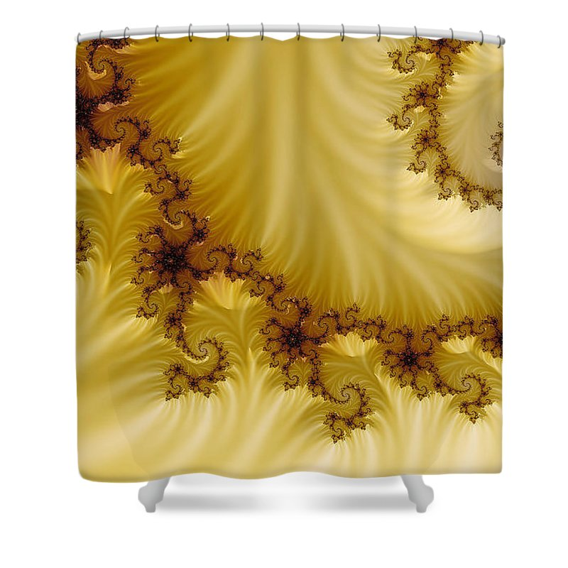 Clay Shower Curtain featuring the digital art Valleys by Clayton Bruster