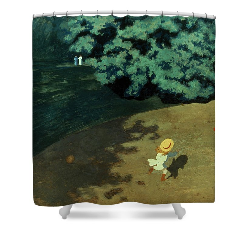 1899 Shower Curtain featuring the photograph Valloton: Balloon, 1899 by Granger