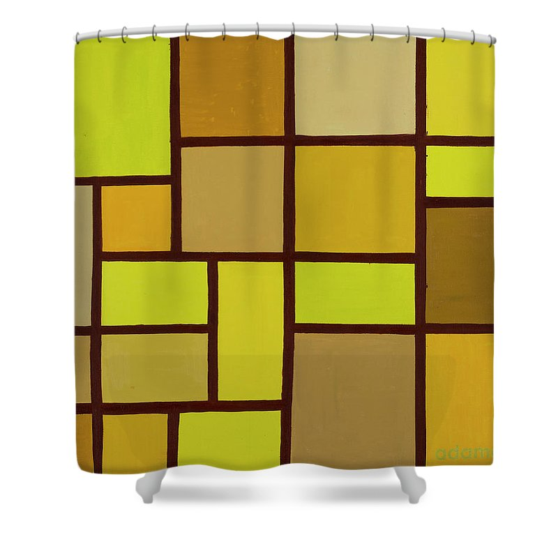 Valuable Earth Shower Curtain featuring the painting Valuable Earth by Adamantini Feng shui