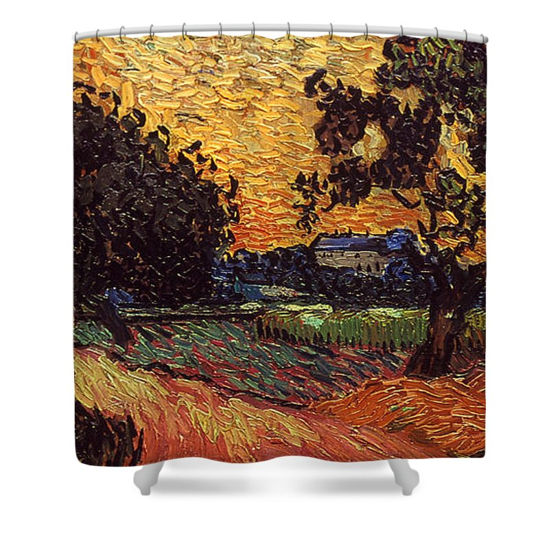 1890 Shower Curtain featuring the photograph Van Gogh: Castle, 1890 by Granger