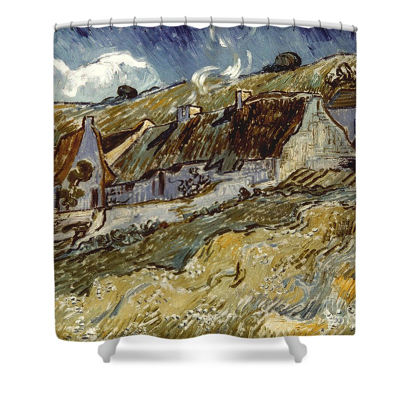 1890 Shower Curtain featuring the photograph Van Gogh: Cottages, 1890 by Granger