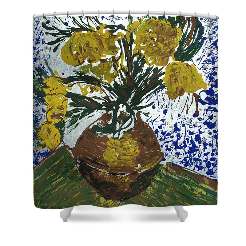 Flowers Shower Curtain featuring the painting Van Gogh by J R Seymour