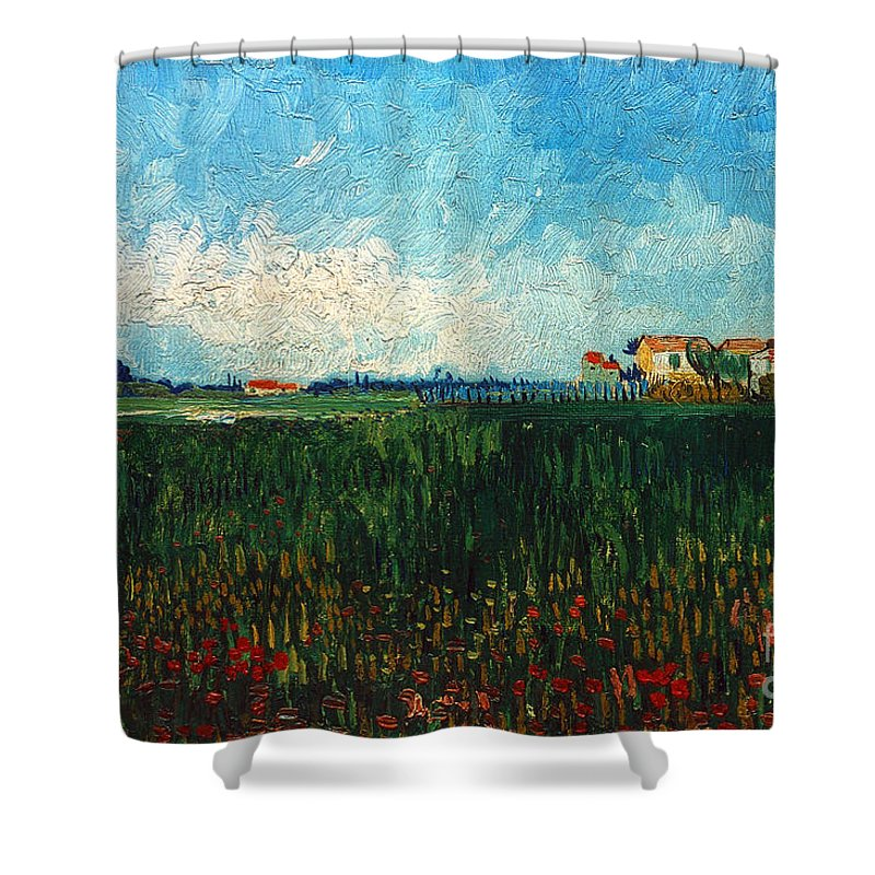 1888 Shower Curtain featuring the photograph Van Gogh: Landscape, 1888 by Granger