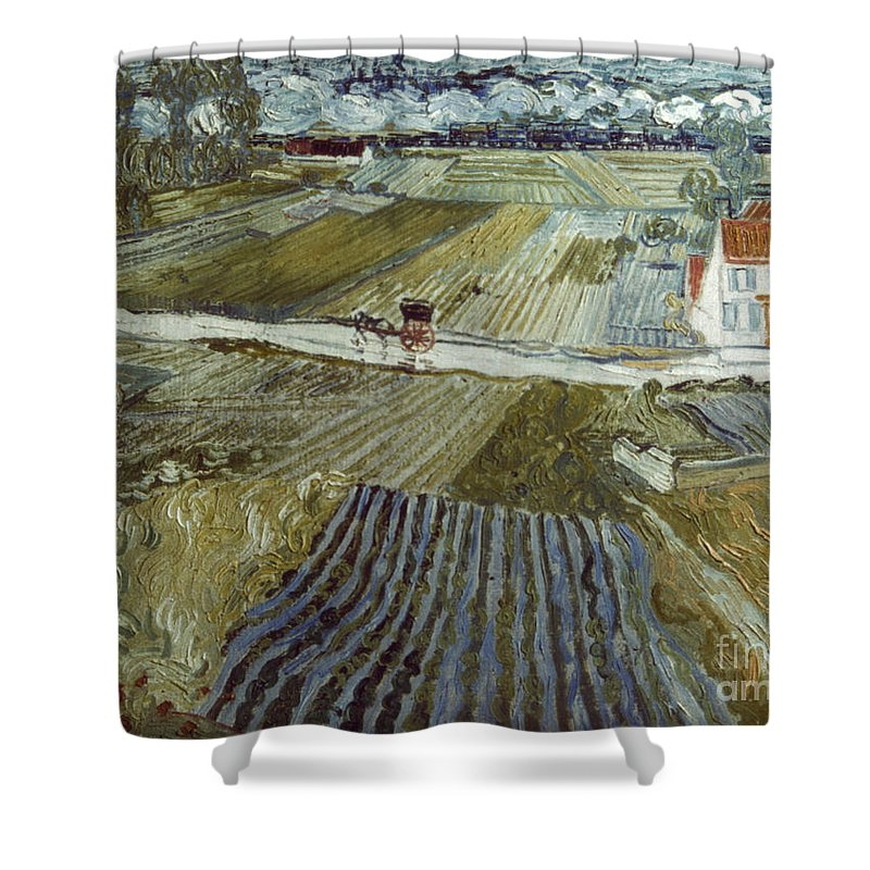 1888 Shower Curtain featuring the photograph Van Gogh: Landscape, C1888 by Granger