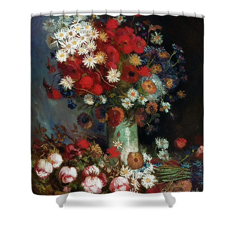 1886 Shower Curtain featuring the photograph Van Gogh Still Life 1886 by Granger