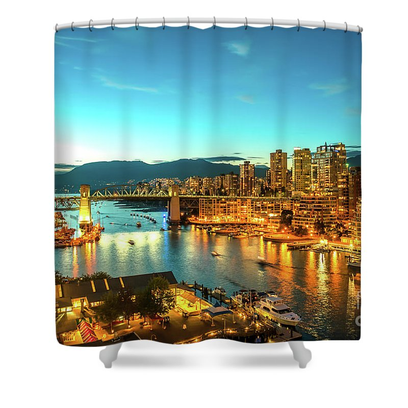 Vancouver Shower Curtain featuring the photograph Vancouver At Dusk by Viktor Birkus