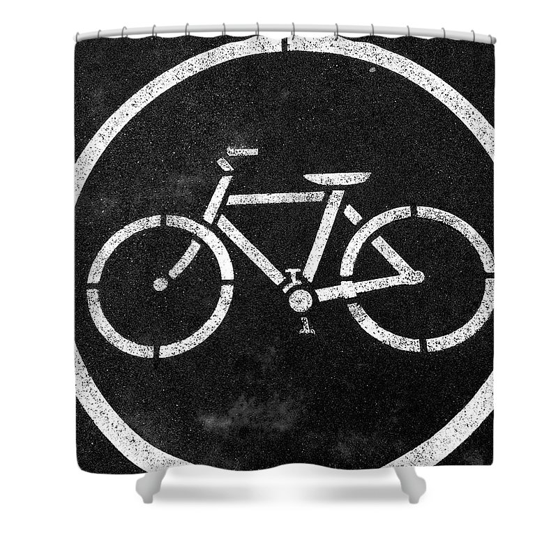 Bike Shower Curtain featuring the photograph Vancouver Bike Lane- Art By Linda Woods by Linda Woods