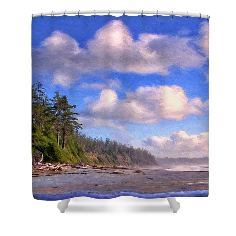 Vancouver Island Shower Curtain featuring the painting Vancouver Island by Dominic Piperata