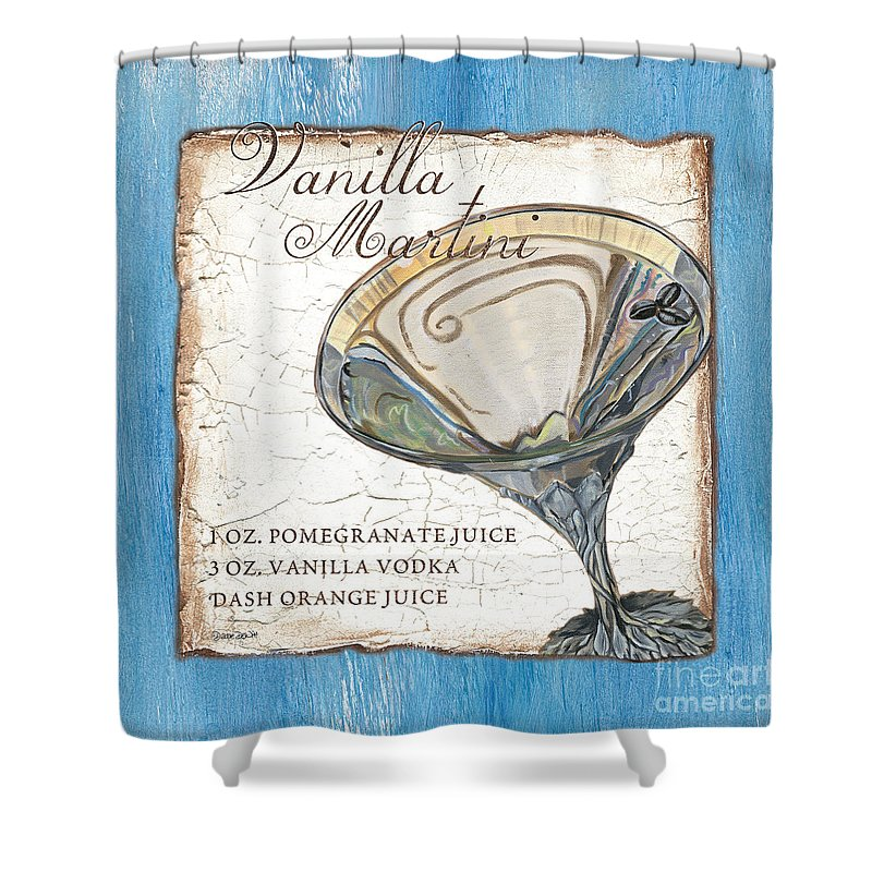 Martini Shower Curtain featuring the painting Vanilla Martini by Debbie DeWitt