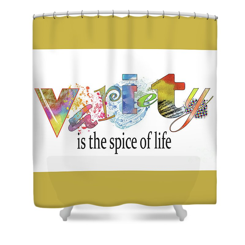 Variety Is The Spice Of Life Shower Curtain For Sale By Milan Kecman